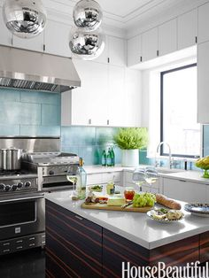 Popular Kitchen Paint and Cabinet Colors - Colorful Kitchen Pictures - House Beautiful