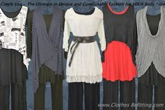 Comfy USA Unique, Chic and Comfortable Fashion for Apple and Pear Shapes