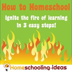 How to Homeschool - Ignite the fire of learning in 3 easy steps from www.homeschooling-ideas.com