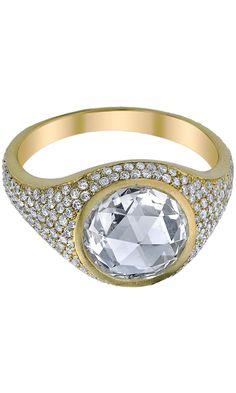 Irene Neuwirth Rose Cut & Pave Diamond Ring