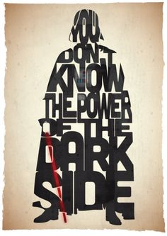 The Power - Return Of The Jedi by 17th and Oak (Pete Ware) #type #gestalt