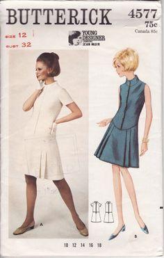 1960s Jean Muir dress pattern - Butterick 4577