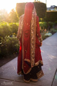 Pakistani Bride in Traditional Red   Photo by Amiyah Photography