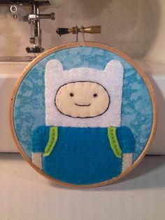 Adventure Time - Finn the Human Embroidery Hoop. $22.00, via Etsy.