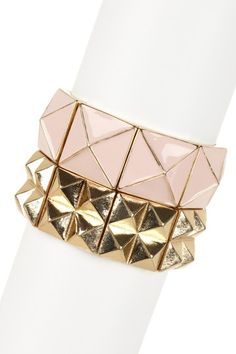 Very cool stacked bracelets