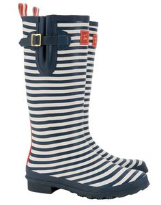 Joules WELLY PRINT Womens Printed Wellies, Navy Stripe. New prints have been splashed across our classic wellies. No matter where you are or what season it is, from farmyards to festivals, make sure you stand out from the crowd.