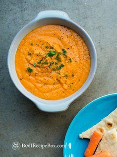 Easy 15 minute Spicy Sriracha Hummus by bestrecipe #Appetizer #Hummus #Sriracha