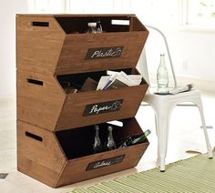 Stackable Recycle Storage | Pottery Barn