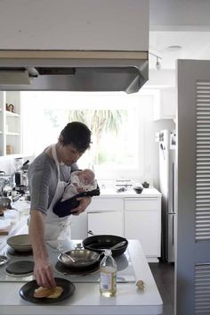 man + baby + cook = love