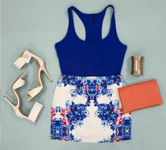 chic outfits, finest, color block, style, blue, shay, colors, tobi, hot fashion