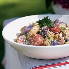 Red, White, and Blue Potato Salad | CookingLight.com #4thofjuly