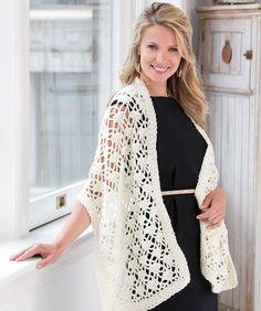 Crochet Lacy Wrap free pattern