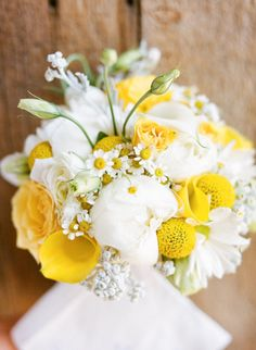 Yellow and white bouquet..