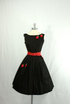RESERVED for Cool Cat1950s Dress  Vintage by VintageFrocksOfFancy, $190.00