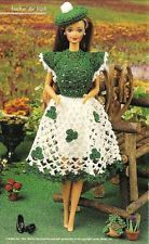 X726 Crochet PATTERN ONLY Irish St. Patrick's Day Outfit Fashion Doll Barbie