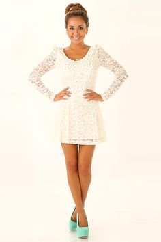 According To You Dress: Ivory