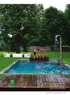 diving platform into pool