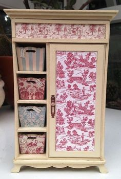 Gorgeous 1/12th Scale Shabby Chic/French Style Wardrobe