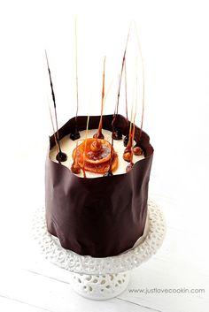 orange curd chocolate cake
