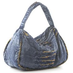 idea.....nice shape - Denim Hobo Bag