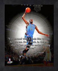 Kevin Durant Hard Work Beats Talent Print - Basketball Sports Fitness ...