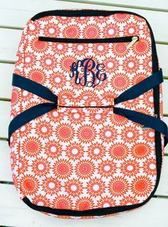 monogrammed casserole carrier -a great gift. Other cute gifts on this site too!