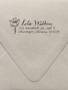 Rose Custom Stamp