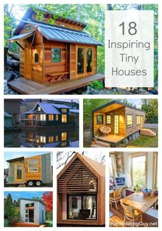 18 Inspiring Tiny Houses...I want one of these!  - RemodelingGuy.net #tinyhouse