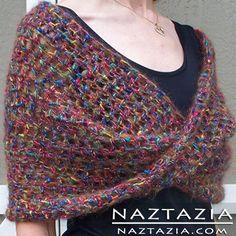 Free Pattern! - Crochet Mobius Twist Infinity Shawl.