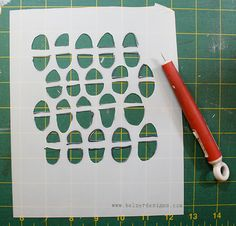 A GREAT TUTORIAL on how to cut your own stencils, as well as a lot of ways to use them.