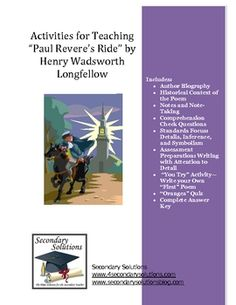 """""""Paul Revere's Ride"""" by Longfellow Activity Pack"""