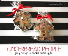 Gingerbread People Play Dough and Cookie Cutter Gifts - Mama. Papa. Bubba.
