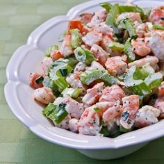 Kalyn's Kitchen®: Recipe for Tarragon Shrimp Salad with Celery, Green Onion, and Celery Seed