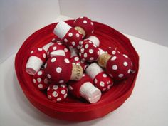 Set of 4 Champagne Cork Mushrooms by sarahracha on Etsy, $6.00