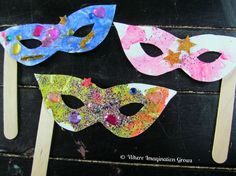 Mardi Gras Mask Craft for Kids from Where Imagination Grows