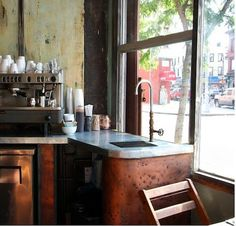 kitchens, galleries, copper, cafe, industrial style, leaves, restaurants, hotels, brooklyn