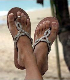 Aspiga Zanzibar Natural Leather Beaded Sandal