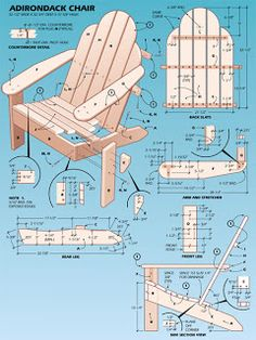 Free Woodworking Plans: Adirondack Chair Plans includes print out