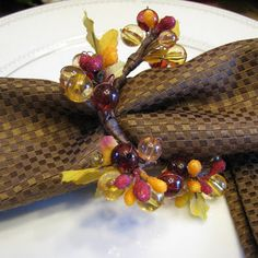 Thanksgiving Table Decor, Autumn Napkin Rings, Holidays, Napkin Rings    Thanksgiving Table Decor, Autumn Napkin Rings, Holidays , let me help decorate your Thanksgiving table with these beautiful napkin rings. Perfect for an intimate dinner for two .  I made this set of two using beautiful Autumn colored beaded and ribbon    $8.99