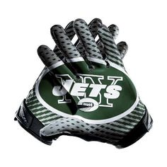 Nike Vapor Jet 2.0 (NFL Jets) Men's Football Gloves - $100