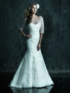 Allure Bridals : Couture Collection : Style C246 : Available colours : White/Silver, Ivory/Silver
