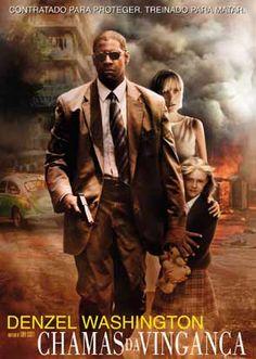 """Denzel Washington, Dakota Fanning e Christopher Walken em CHAMAS DA VINGANÇA (Man on Fire). 1-"""" O perdão é entre eles e Deus. Eu só marco o encontro."""""""