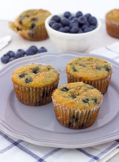 coconut flour blueberry protein muffins {grain-free, paleo}