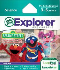 LeapFrog Explorer Learning Game: Sesame Street {Review} (& Giveaway Ends 11/25)