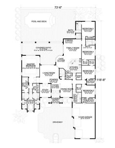 Tuscan Home Plans One Story One Story Cantilever ~ Home Plan And ...