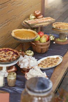 Fall Harvest Treats #fall #desserttable #dessert #table #autumn #thanksgiving #dinner #party