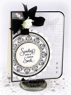 #justrite card by Stephanie Kraft - Love the black and white...