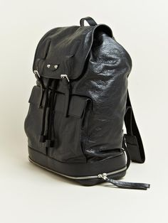 backpacks, balenciaga mens, men leather