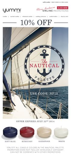 10% OFF The Nautical Palette! Use Promo Code NP10 At Checkout