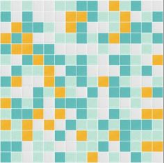 I Love Color Collection: Skyshine Glass Mosaic Tile Blend, sold by the sheet.